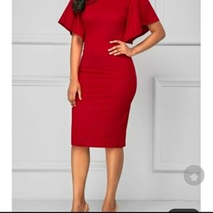 247752c283d rosewe Dresses - Rosewe Red dress